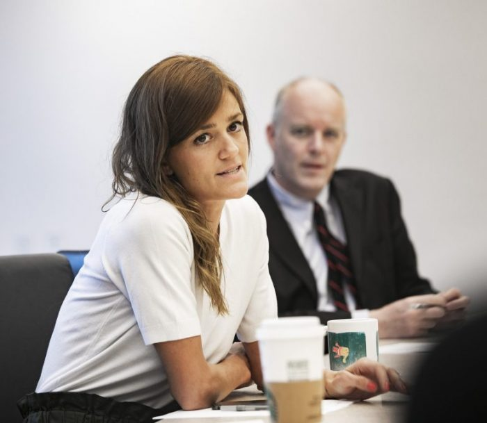 Emily Williams in a meeting